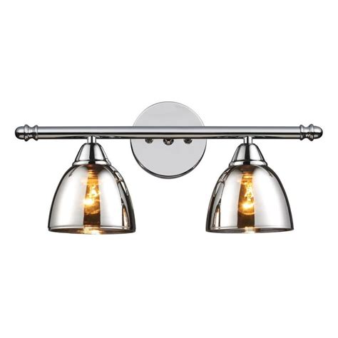 Bathroom Vanity Light Fixtures Chrome by Shop Westmore Lighting 2 Light Morfield Polished Chrome