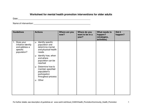 17 best images of healthy lifestyles worksheets for adults