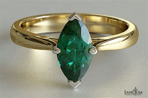 emerald marquise solitaire engagement ring  zealand