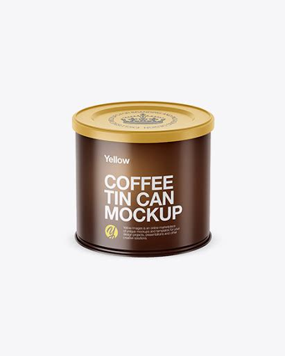 Magazines & books, iphone, ipad, macbook, imac, packaging, signs, vehicles, apparel, food and beverages, cosmetics and more! Free Matte Coffee Tin Can Mockup (High-Angle Shot)