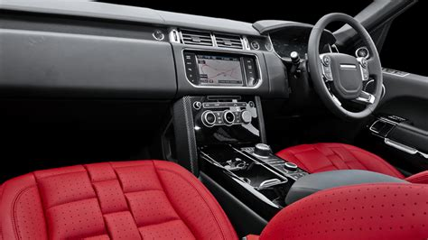 range rover  kahn red leather interior
