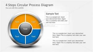 4 Step Circular Process Diagram With Placeholders