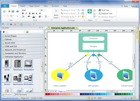 enterprise application diagram visio network diagram template visio get free image