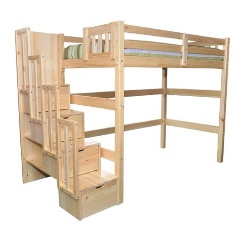 how to build a full size loft bed with desk how to build a full size loft bed with stairs discover