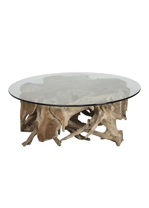 Consider this coffee table for a cool, natural finishing touch in your living room. Teak Root Coffee Table — Simply Perfect of Sioux Falls