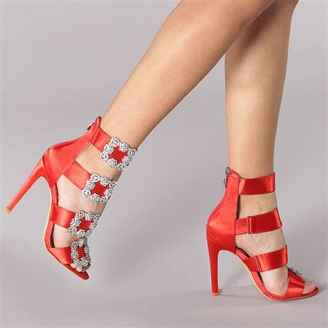 Sandale dama Mariela rosii - Colectie Noua - La Reducere ...