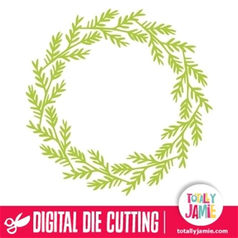 christmas wreath decoration  totallyjamie svg cut