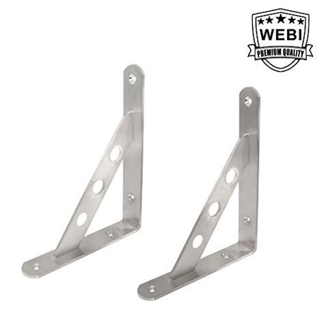 90 Degree Angle, L shaped WEBI Solid Stainless Steel Wall
