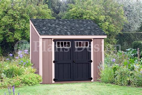 6 x 8 wooden storage garden deluxe lean to shed plans