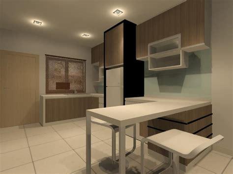 dry kitchen  bar counter interior design