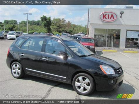 2008 Kia Rondo Lx by Black Cherry 2008 Kia Rondo Lx V6 Beige Interior