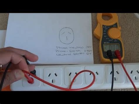 multimeter measuring ac voltage youtube