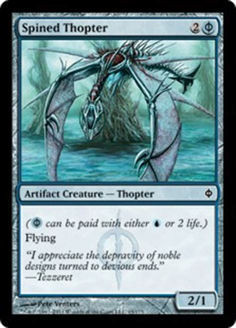 spined thopter new phyrexia gatherer magic the
