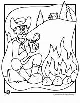 Coloring Campfire Cowboy Animal Pages Jr Designlooter 5kb 880px Drawings Popular sketch template