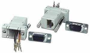Db9 Male To Rj45 Female Serial  Terminal Modular Bulk Adaptor