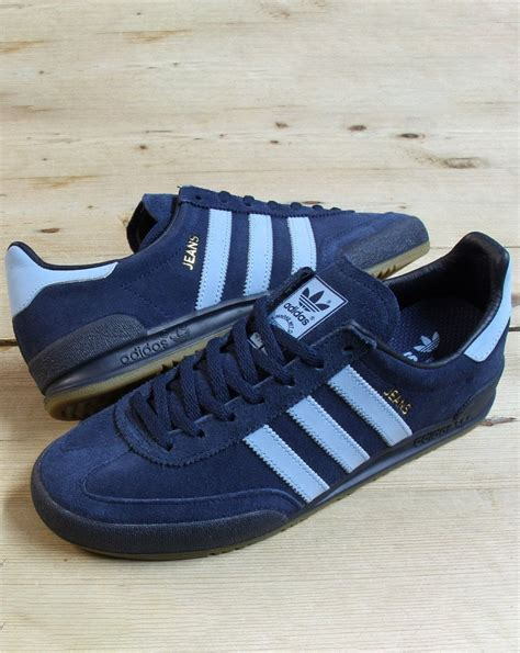 Adidas Jeans Trainers Navy/Sky - Adidas At 80s Casual Classics