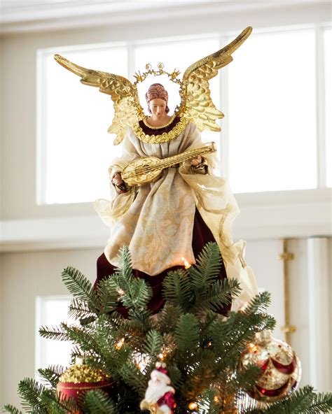 angel christmas tree topper balsam hill christmas