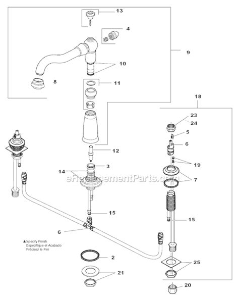 delta faucet parts delta faucet 2256 rblhp h216rb parts list and diagram