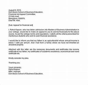 sample financial aid appeal letter 7 free documents With financial aid suspension appeal letter template
