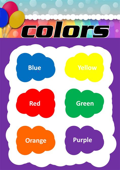 color chart for kindergarten your home 623 | color chart kindergarten