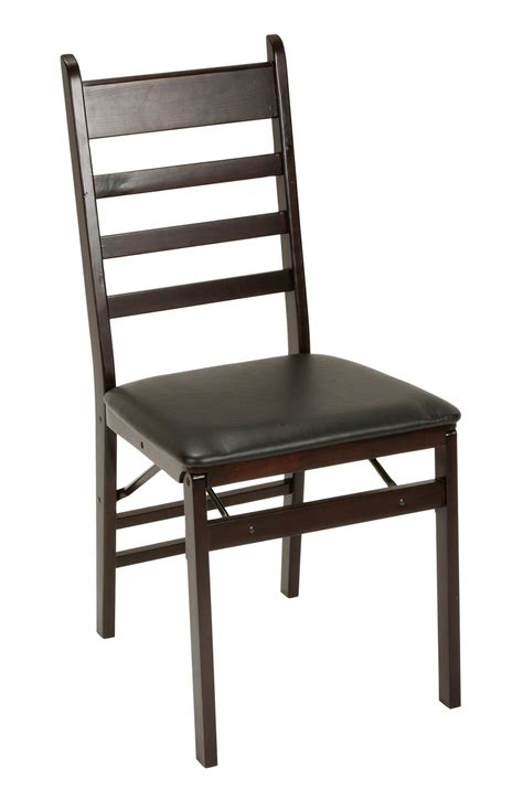 cosco products cosco wood folding chair with vinyl seat