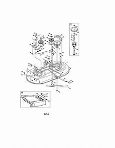 Deck  Spindle  Chute Diagram  U0026 Parts List For Model 247203730 Craftsman