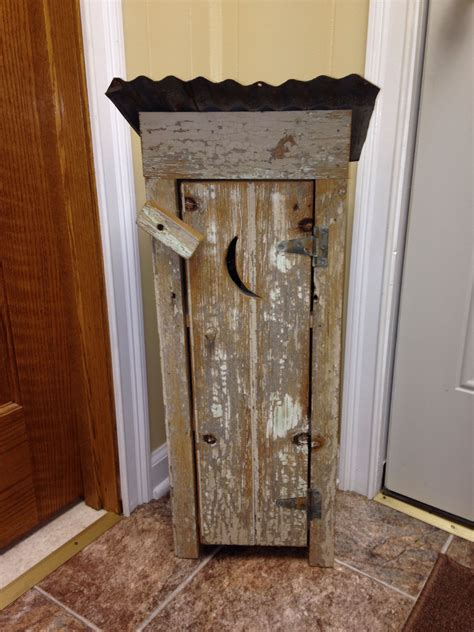 small outhouse   barn wood  distressed