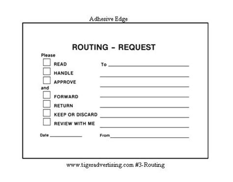 Office Routing Slip Template by Post It Routing Request Forms