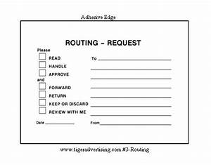 post it routing request forms With office routing slip template