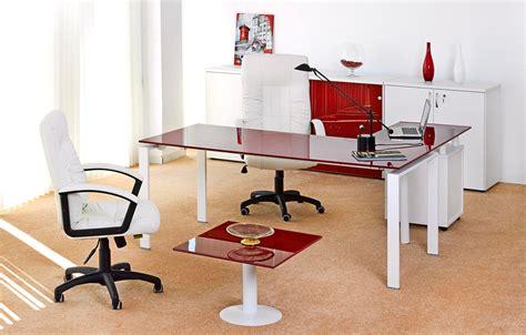 bureau de direction carre emaille rouge meubles