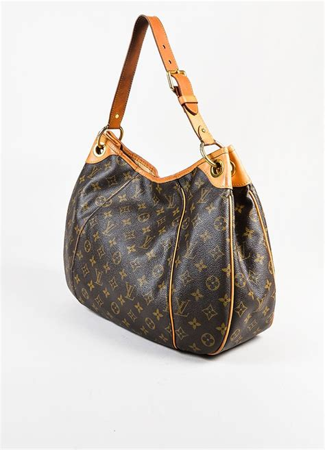 louis vuitton brown coated monogram canvas galliera pm