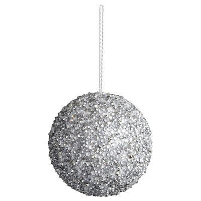 silver sparkle ornament pier christmas tree christmas