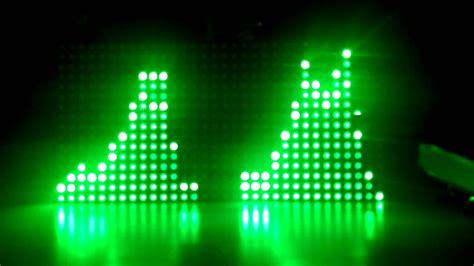 audio visualizer adafruit 32x16 led matrix with arduino uno