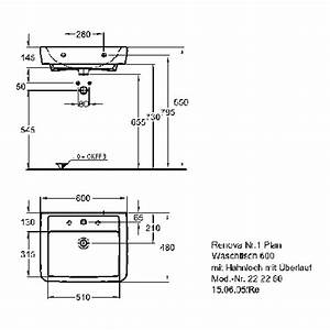 Waschbecken 60 X 30 : keramag renova nr 1 plan waschtisch 60 x 48 cm hl l 222260 design in bad ~ Markanthonyermac.com Haus und Dekorationen