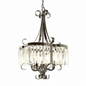 Style selections light black chrome chandelier at