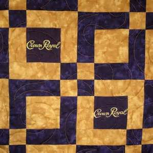 Lap Sized Crown Royal Quilt Made from Your Bags