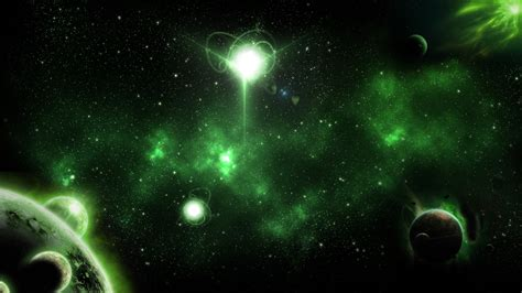 Space Wallpaper  Green Galaxy By Dazalicious On Deviantart