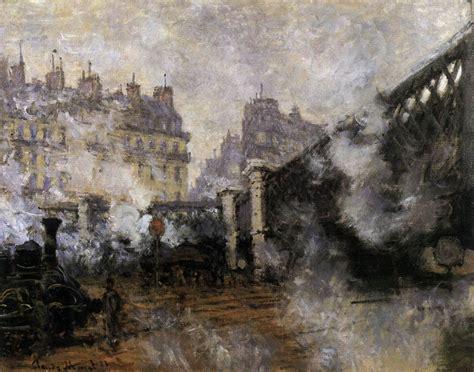 莫奈作品圣拉扎尔火车站系列油画高清大图 油画 爱学艺书画网