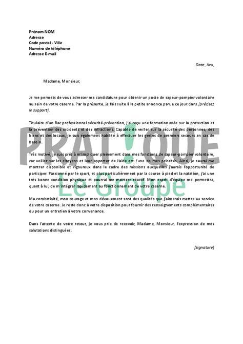 lettre de motivation pour un emploi de sapeur pompier