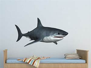great white shark 2 wall decal great white shark vinyl wall With shark wall decals