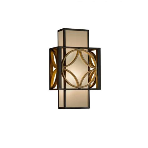 deco style wall light in bold art deco style bronze and