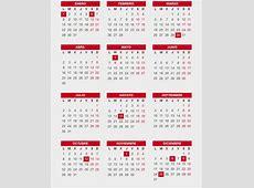 Calendario laboral 2018, más de 200 plantillas para