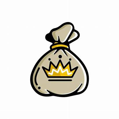 Hustle Money Icon Cartoon Behance Bag Logos
