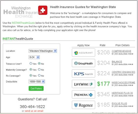 Insurance Quotes by Washington Health Insurance Agency Launches The Of