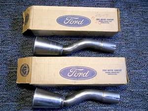 RARE NOS 1965 1966 FORD MUSTANG GT MUFFLER EXHAUST TRUMPETS TIPS A-C5ZA-5C227-A | 1966 ford ...