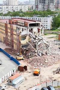 Building Demolition For New Modern House Stock Photo ...