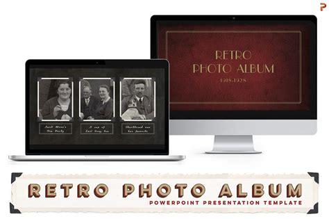 retro photo album  template powerpoint templates