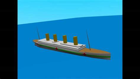 Minecraft Titanic Sinking Animation by Hmhs Britannic New Sinking