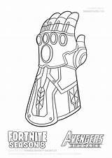 Thanos Gauntlet Coloring Infinity Draw Avengers Endgame Fortnite Step Colorir Colorear Colouring Dibujos Vingadores Guide War Printable Drawing Atividades Desenhos sketch template