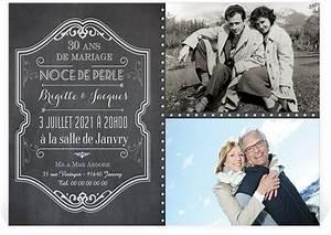 Faire Part Anniversaire 60 Ans : faire part 60 ans mariage ~ Melissatoandfro.com Idées de Décoration